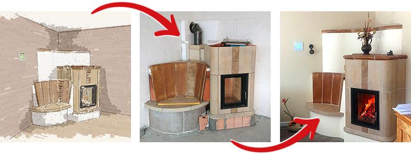 Kaminbau - So entsteht ein Kamin / Ofen